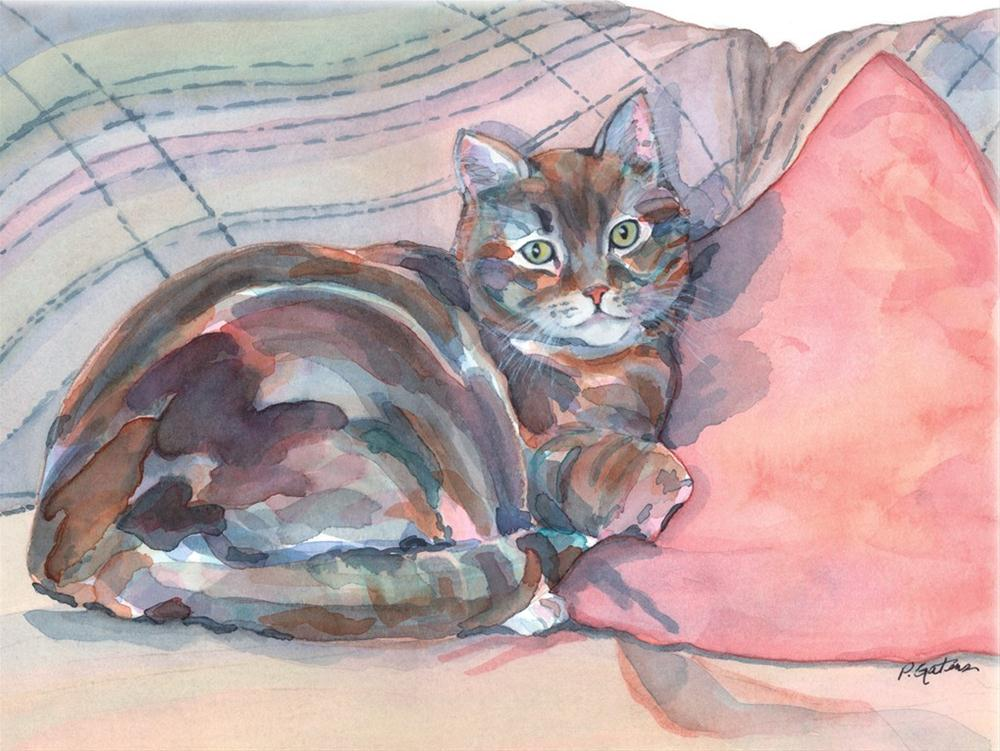 """Couch Potato"" original fine art by Pamela Gatens"