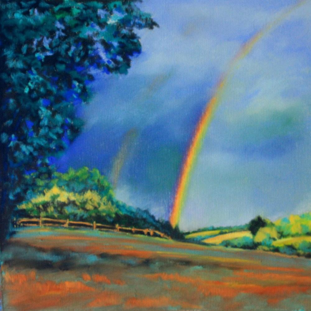 """Double Rainbow"" original fine art by Jill Bates"
