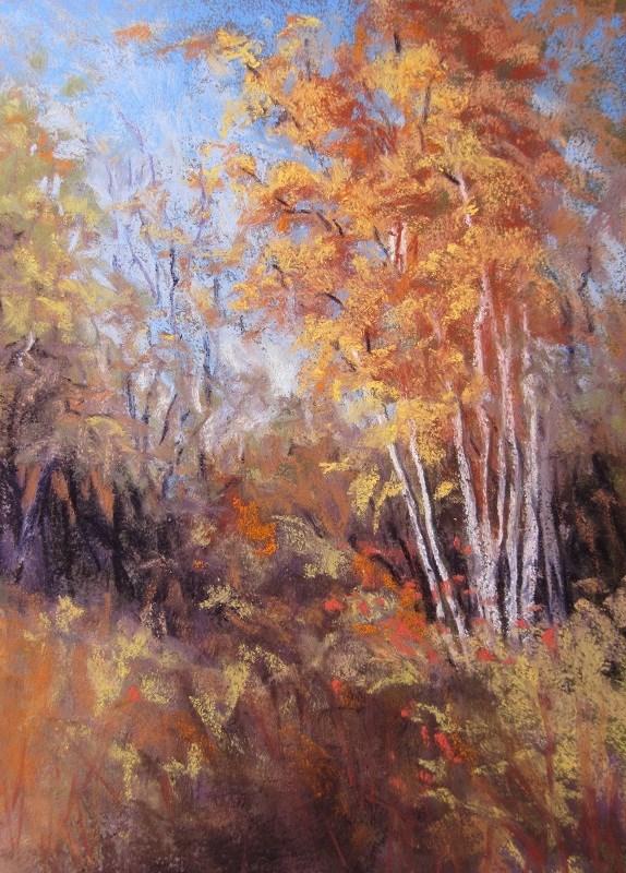 """""""Tree Impression"""" original fine art by Ruth Mann"""