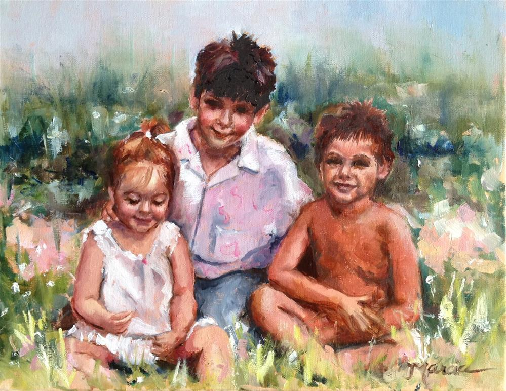 """Painting a Portrait - step by step"" original fine art by Marcia Hodges"
