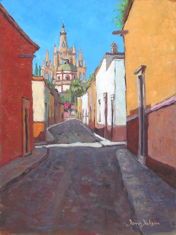 """""""Aldama view"""" original fine art by Donna Dickson"""