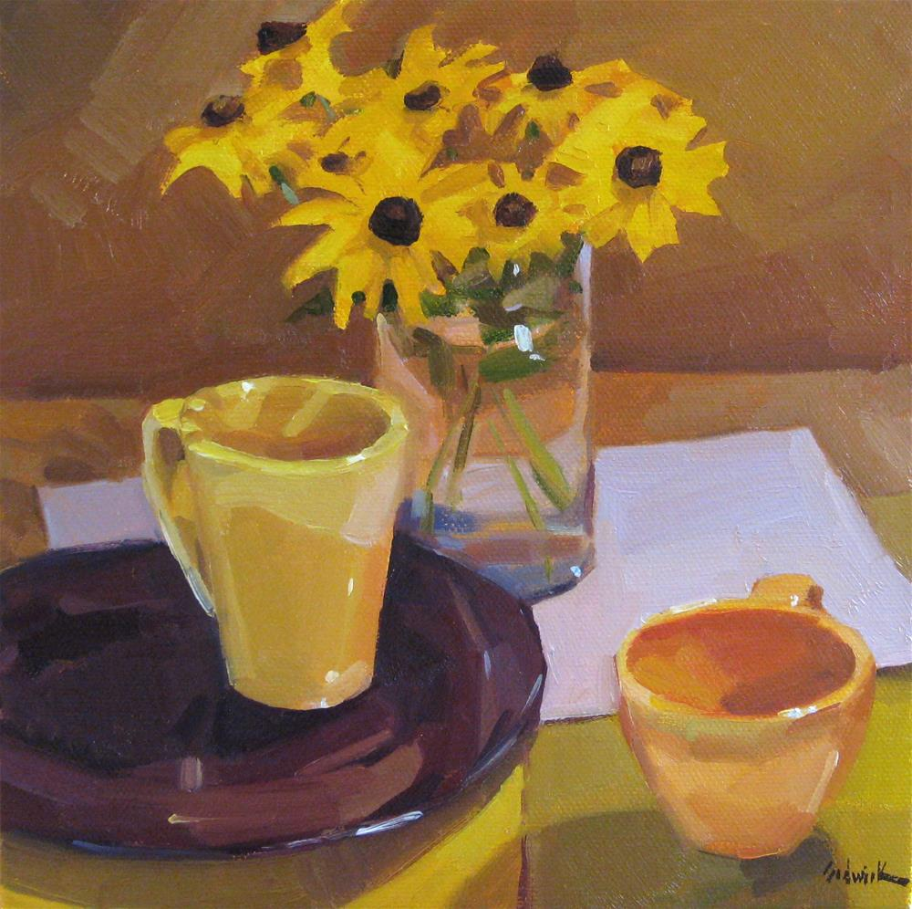 """Yellow Tea Party"" original fine art by Sarah Sedwick"