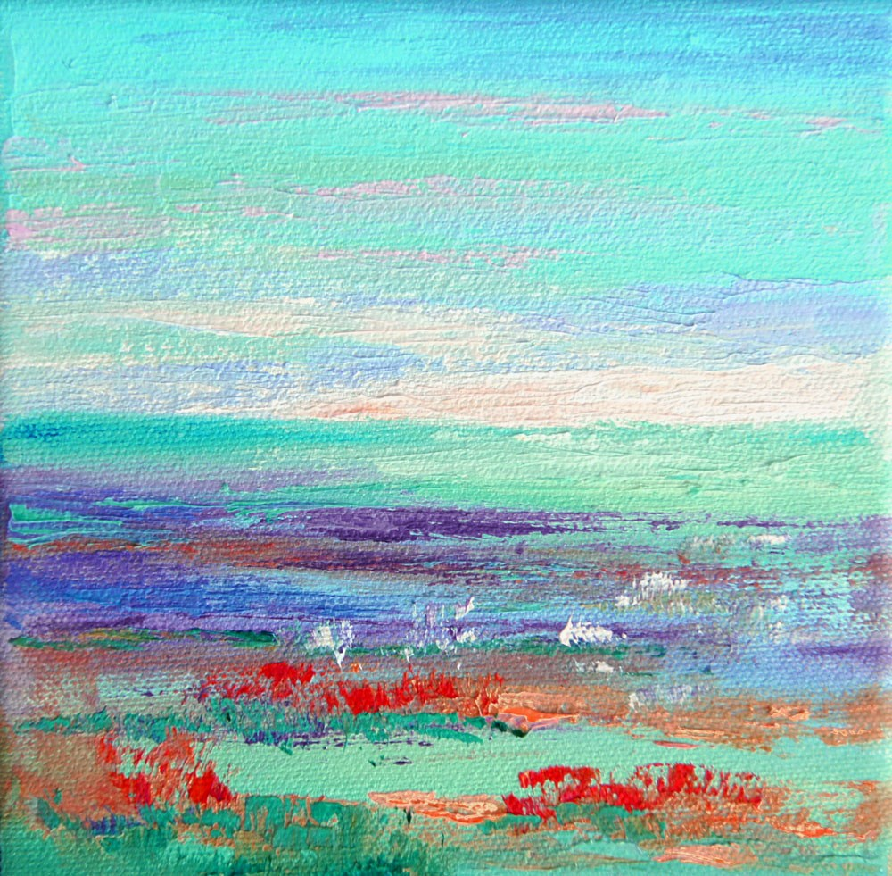 """Namibia Impressions 23 - Shimmering Horizon"" original fine art by Marion Hedger"