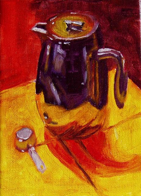 """Coffee Pot"" original fine art by Cietha Wilson"