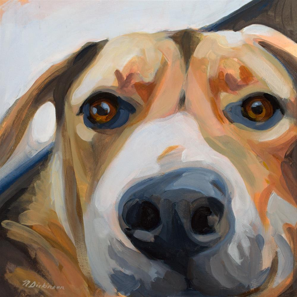 """Rescue Dog Boomer"" original fine art by Nat Dickinson"