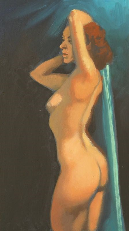 """Nude torso"" original fine art by Peter Orrock"