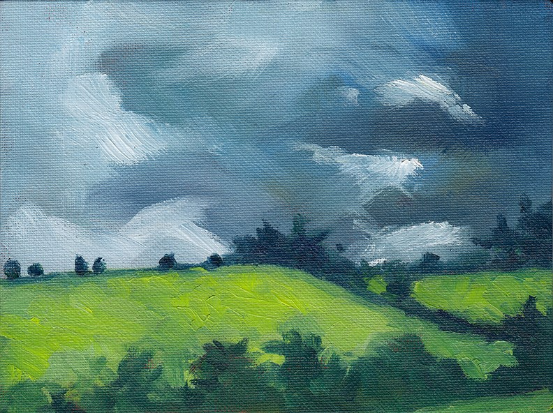 """Yorkshire Storm"" original fine art by J M Needham"
