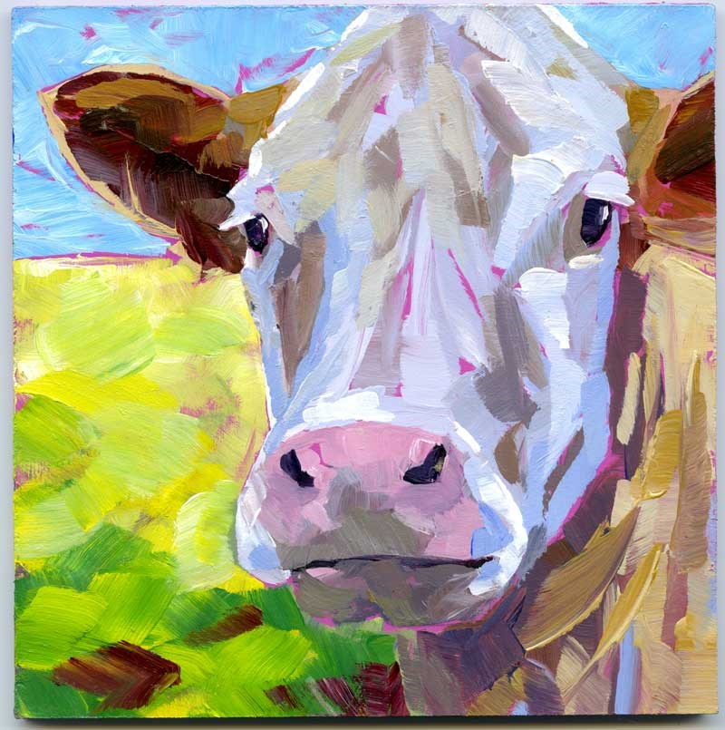 """Steer No.1"" original fine art by Eileen Hennemann"