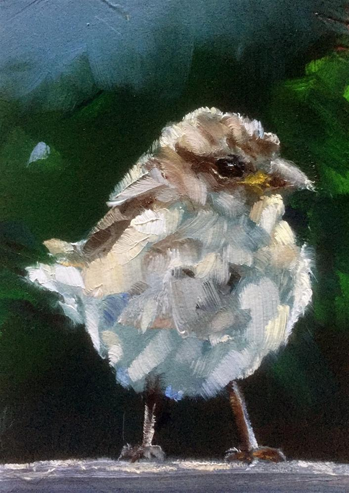 """Young Sparrow"" original fine art by Gary Bruton"