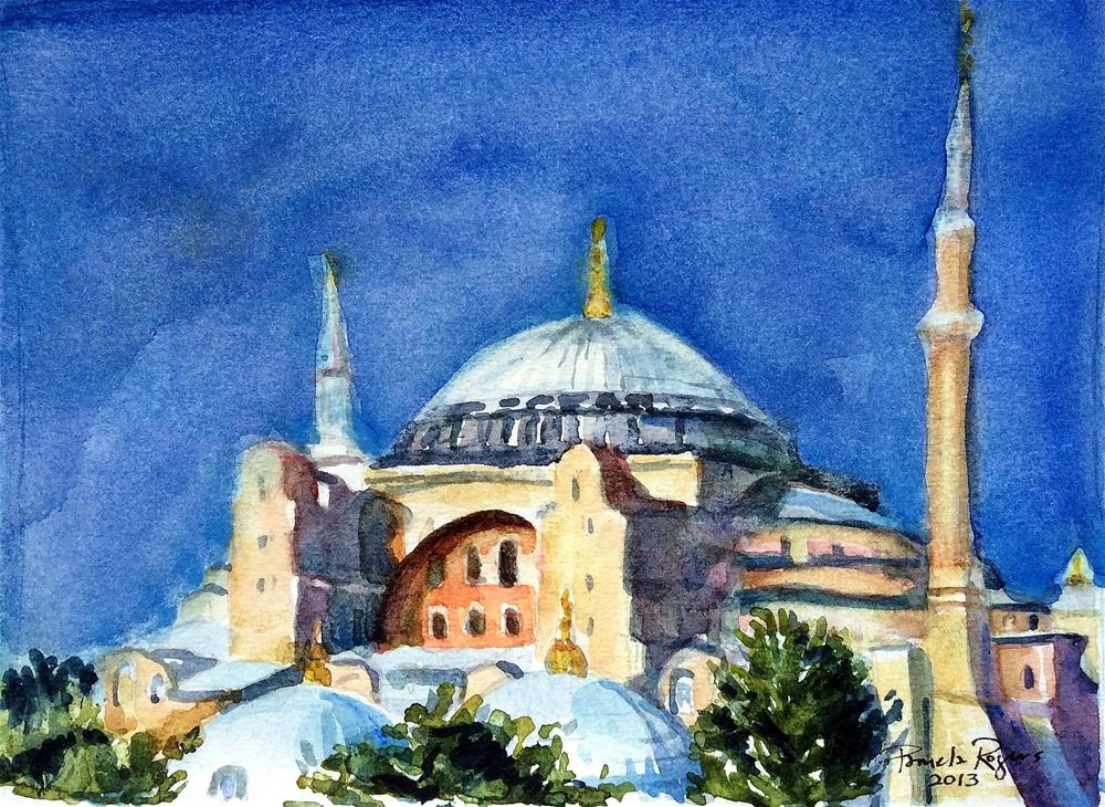 """St. Sophia, Istanbul 2013"" original fine art by Pamela Jane Rogers"