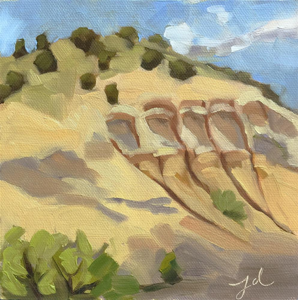 """Sandy Cliffs"" original fine art by Jessie Dodington"