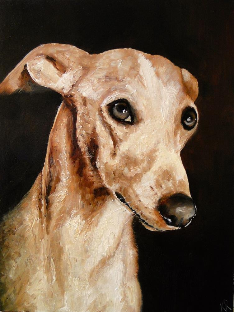"""Whippet eyes"" original fine art by Karen Robinson"