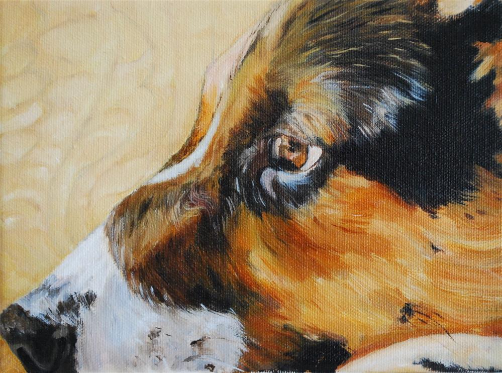 """Mattie (left profile)"" original fine art by Beverley Phillips"