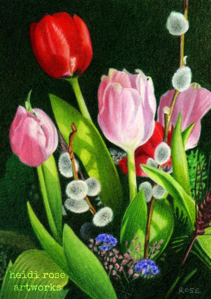 """""""Valentine Bouquet"""" original fine art by Heidi Rose"""