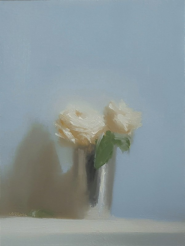 """""""Cup of Roses"""" original fine art by Neil Carroll"""