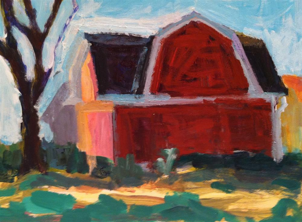 """Barn"" original fine art by Christine Parker"