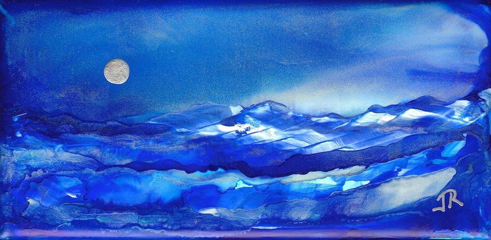 """Dreamscape No. 372"" original fine art by June Rollins"