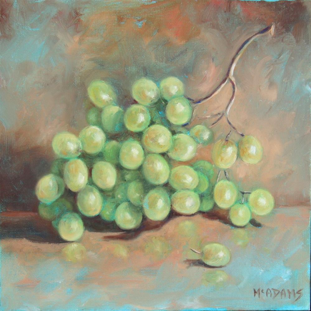 """""""Gtreen Grapes"""" original fine art by Phyllis McAdams"""