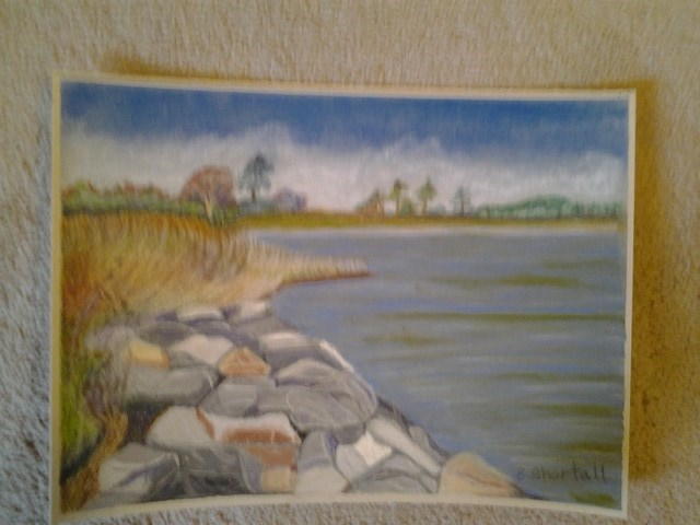 """""""View from Wade's Point #2"""" original fine art by Elaine Shortall"""
