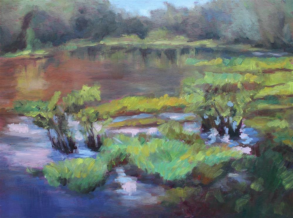 """Chattahoochee River"" original fine art by Allison Doke"