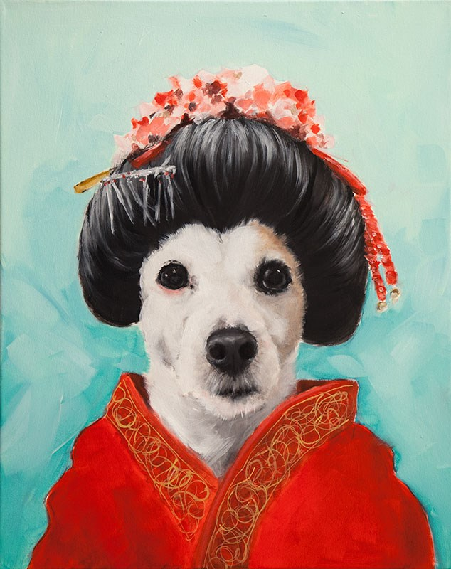 """Geisha Wendy"" original fine art by Clair Hartmann"