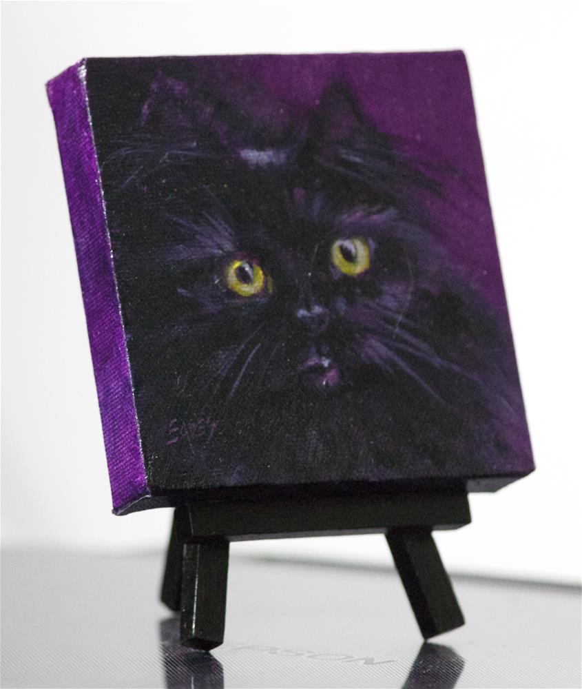 """Little Black Kitty"" original fine art by Linda Eades Blackburn"