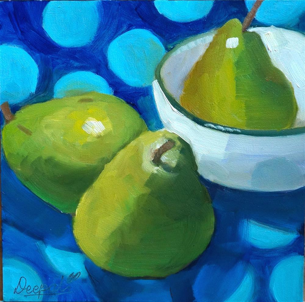 """Pears"" original fine art by Dipali Rabadiya"