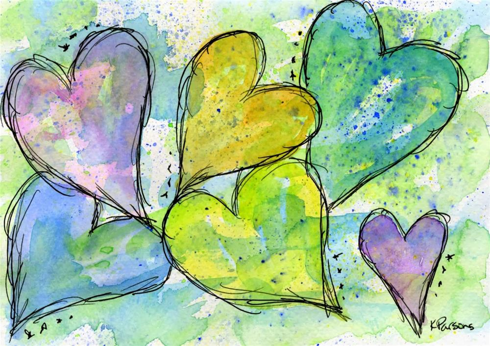"""A Rainbow of Love"" original fine art by Kali Parsons"