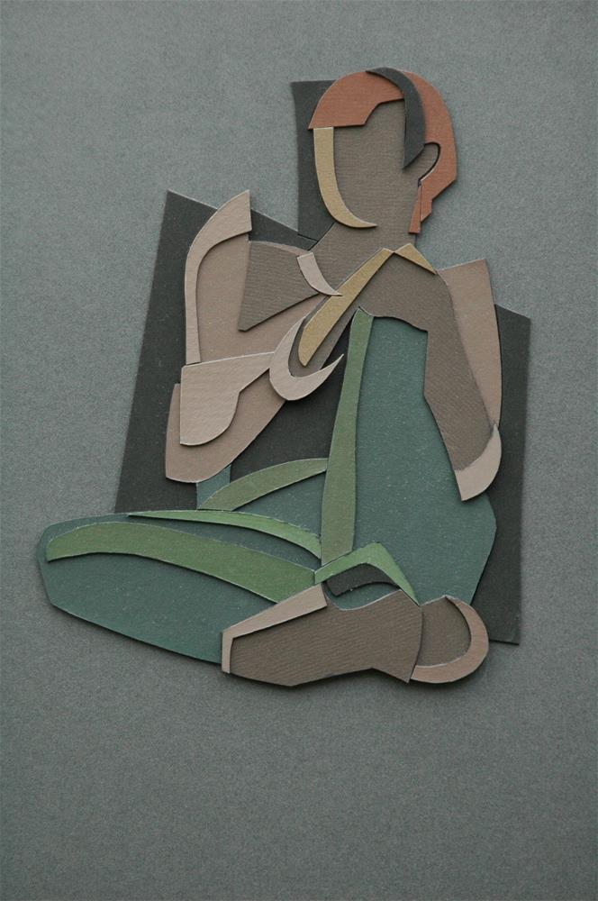 """Seated Figure"" original fine art by Mark Allison"