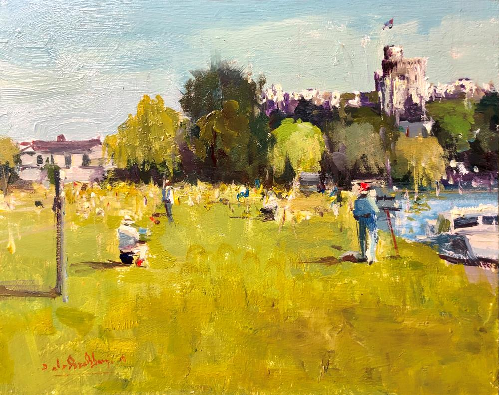 """ROI Plein air Painting Day, Windsor"" original fine art by Adebanji Alade"