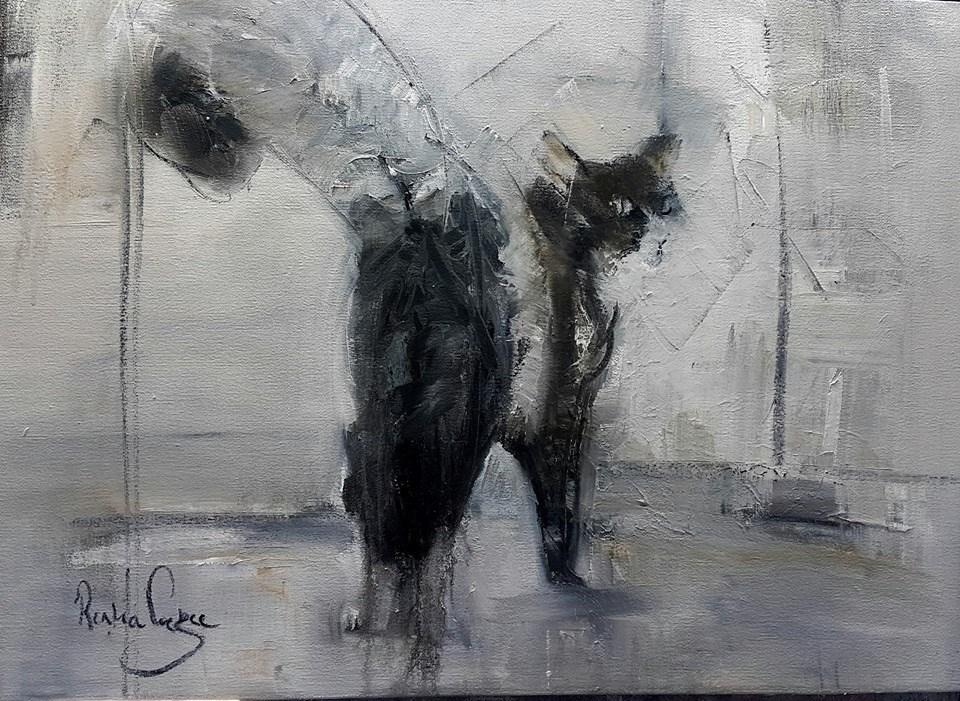 """Nine lives"" original fine art by Rentia Coetzee"