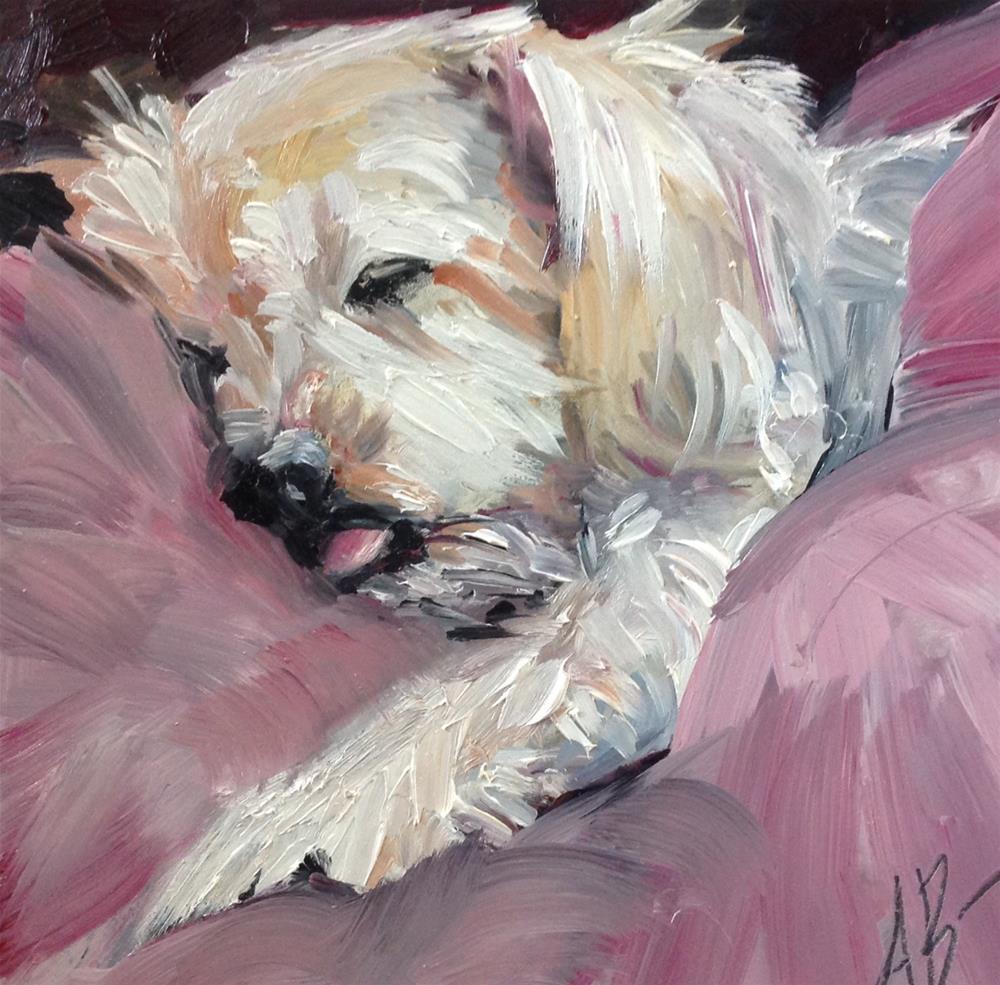 """""""Puppy / Slumber"""" original fine art by Annette Balesteri"""