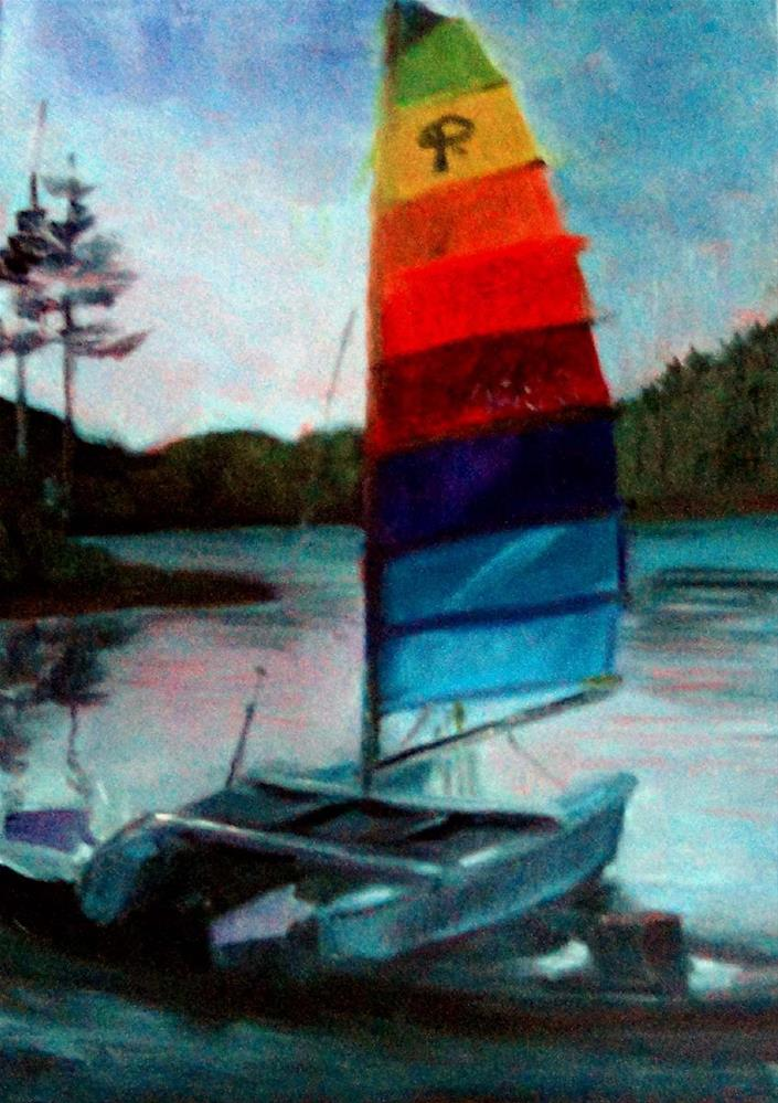"""Evening Stillness, Ruth Lake"" original fine art by Cietha Wilson"