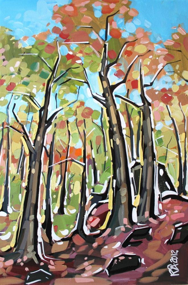 """Forest exploration 7"" original fine art by Roger Akesson"