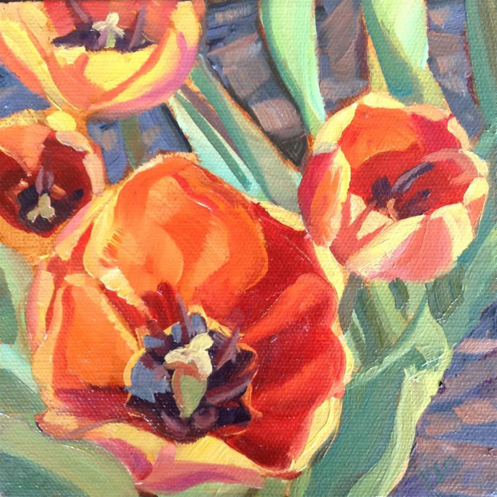 """Tulips Illumined II"" original fine art by Valerie Orlemann"
