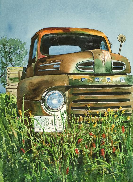 """Old Country Ford"" original fine art by Andy Sewell"
