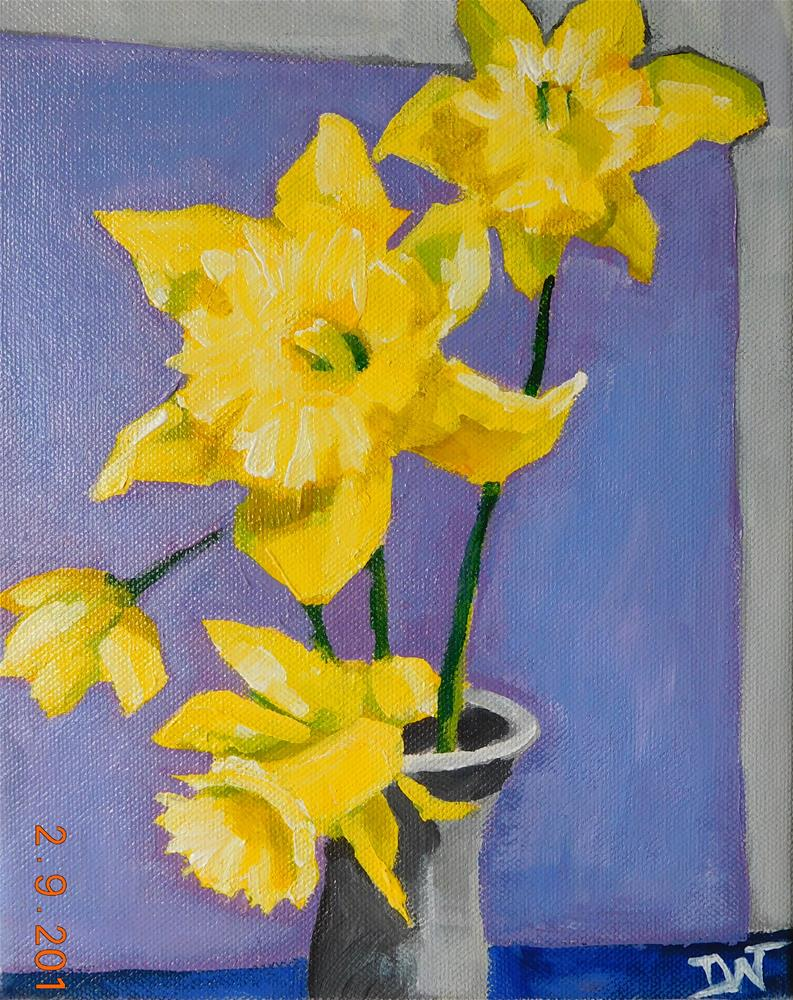 """Four Daffs"" original fine art by Daryl West"
