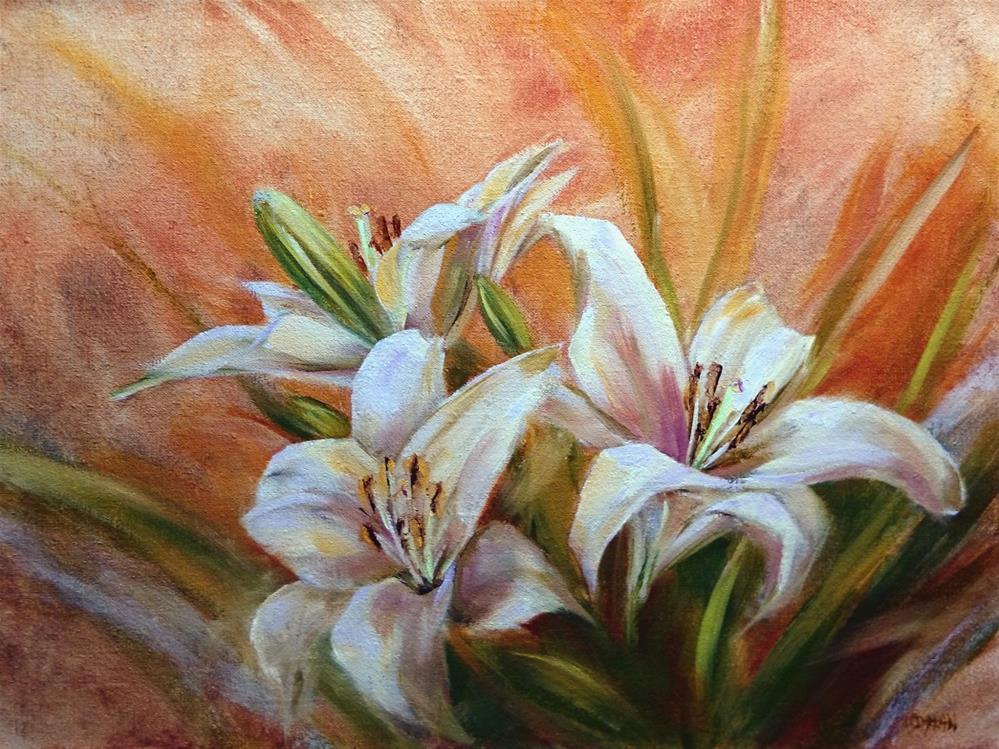 """White Lillies"" original fine art by Dalan Wells"