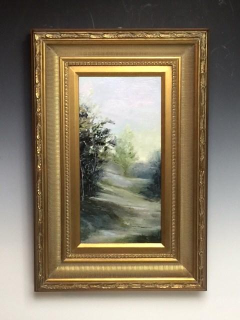 """8 x 16 framed in 4 inch frame!  The Way Home"" original fine art by Brenda Kollman"