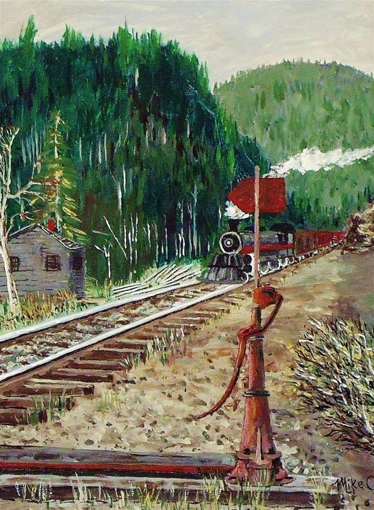 """Mountain Pass"" original fine art by Mike Caitham"