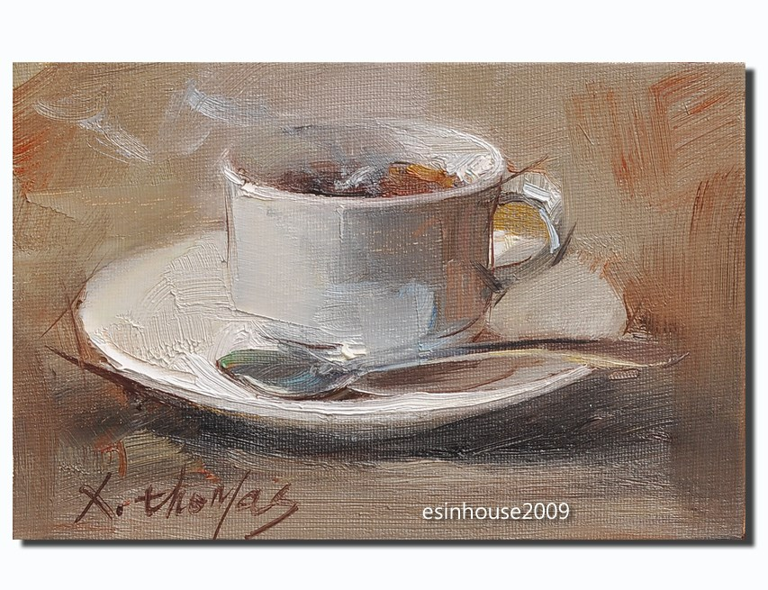 """coffee"" original fine art by Thomas Xie"