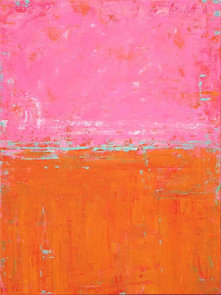 """Abstract in Pink and Orange V"" original fine art by Sage Mountain"