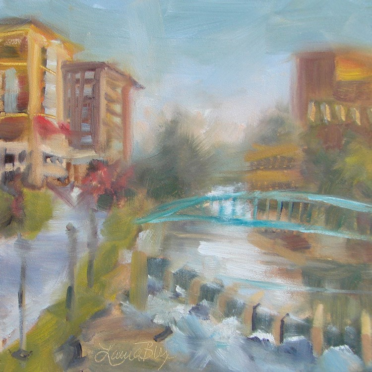 """Reedy River - 396"" original fine art by Laura  Buxo"