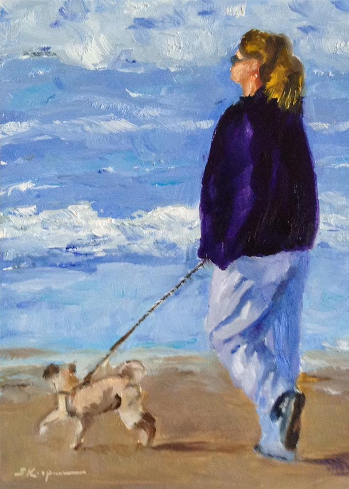 """Pismo Beach Walk"" original fine art by Shelley Koopmann"