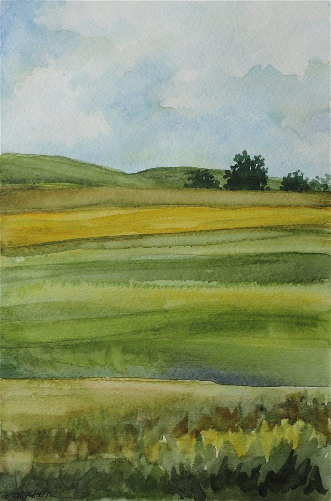 """""""Fields"""" original fine art by Christine Blain"""