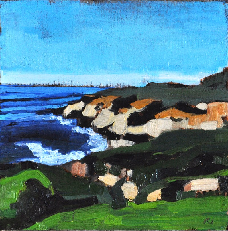 """Pacific Ocean Seascape at Cabrillo, San Diego"" original fine art by Kevin Inman"