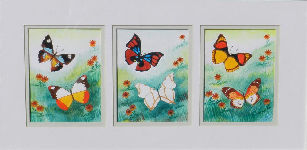 """Springtime Butterflies #2"" original fine art by Velma Davies"