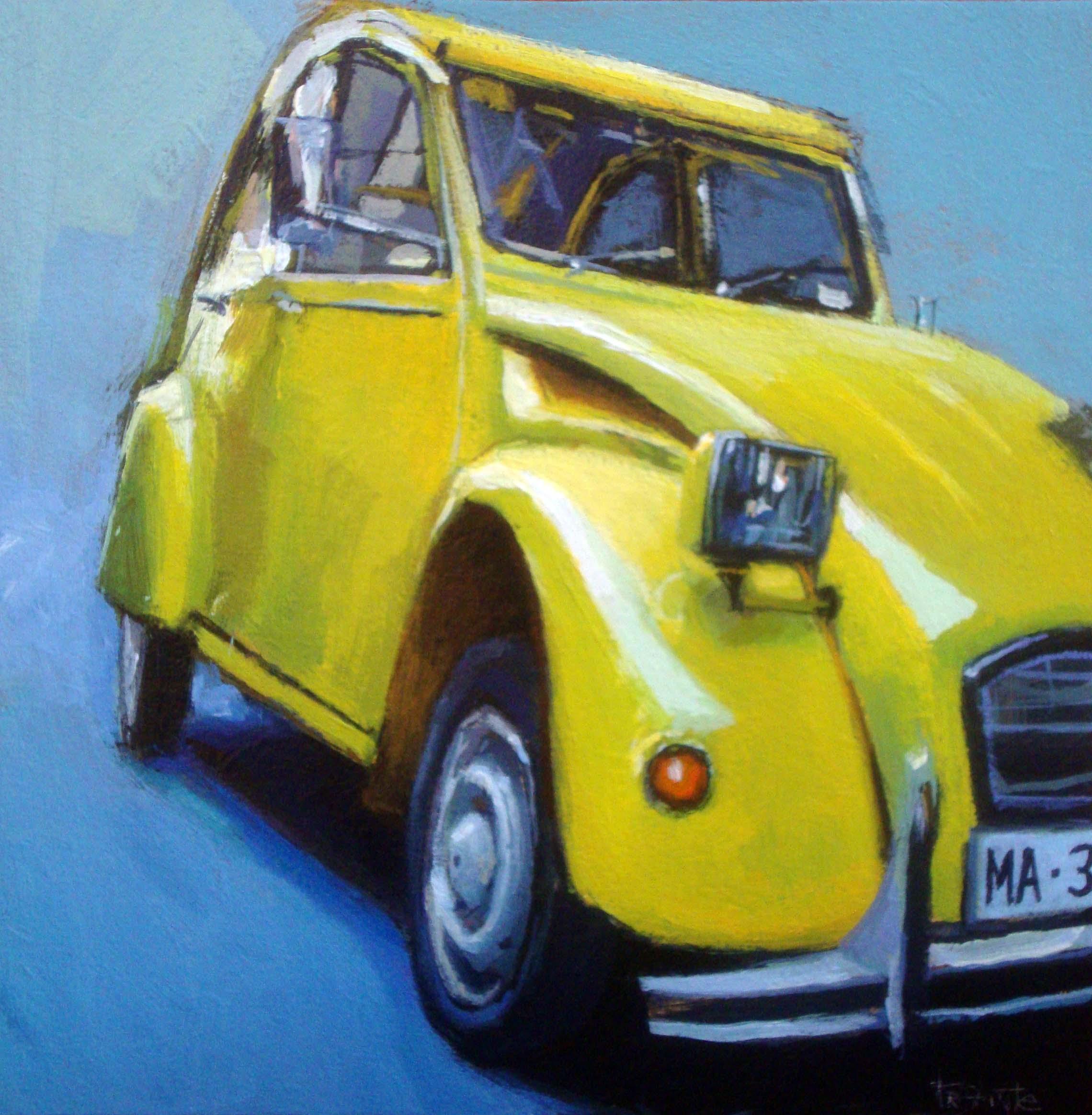"""Citroen 2CV"" original fine art by Víctor Tristante"