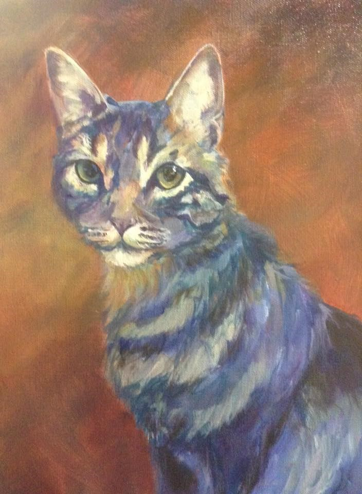 """Day 1 - Here, Kitty!"" original fine art by Lyn Gill"