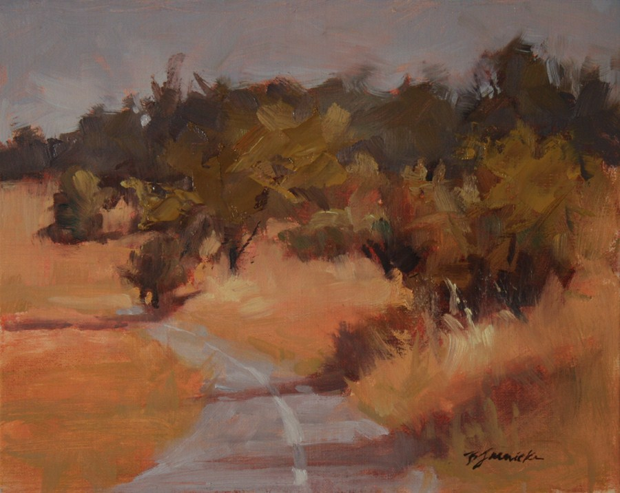 """Bike Path"" original fine art by Barbara Jaenicke"